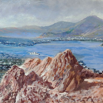 Greek Island of Patmos Painting
