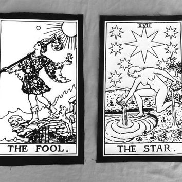 Custom Tarot Card Back Patch vinyl and canvas print (card of your choice!)