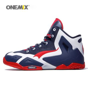 Onemix basketball shoes for men top quality athletic sports sneakers anti-slip basketball boots for outdoor plus size US7-US12