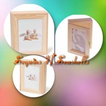 PRE-ORDER - UNFINISHED JEWELRY BOXES - W/ PHOTO FRAME - CLOSED