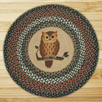 Owl Round Patch Rug