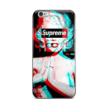 Marilyn Monroe x Supreme x 6 God Praying Hands iPhone 4 4s 5 5s 5C 6 6s 6 Plus 6s Plus 7 & 7 Plus Case