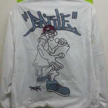 Sale Vintage Bobby Gang Hip Hop Dj Sweater Windbreaker Pull Over Jacket