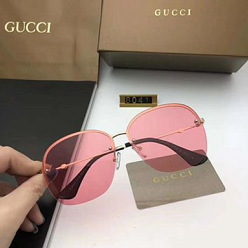 GUCCI Women Casual Fashion Frameless spectacles Shades Eyeglasses Glasses Sunglasses
