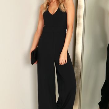 Halter Jumpsuit Black