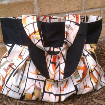 Abstract Reversible Bag by HandtowelsByOlivia on Etsy