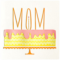 Mom's Cake Birthday Card