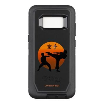 Two Karate Fighters With Rising Sun OtterBox Defender Samsung Galaxy S8 Case