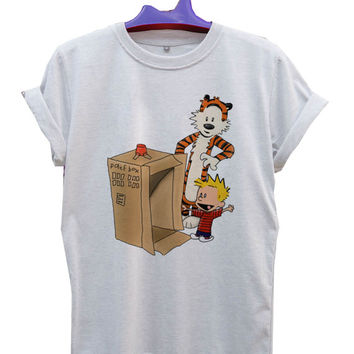 Calvin & Hobbes Calvin's new ride T-Shirt Men, Women and Youth size S-2XL