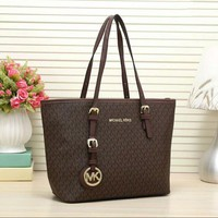 MICHAEL Michael Kors Signature Tote MK Bag Coffee I-LLBPFSH
