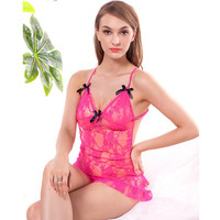 Hot Deal On Sale Cute Transparent Backless Sexy Spaghetti Strap Lace Exotic Lingerie [6595580611]