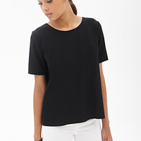 FOREVER 21 Boxy Woven Tee