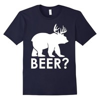 Funny Beer Bear Deer Hunting T-Shirt Hiker Hunter Camping