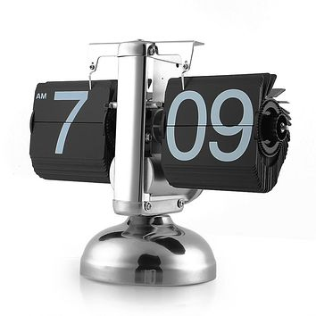 Retro Auto Flip Table Clock