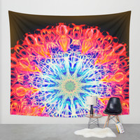 PSYCHEDELIC FAYA Wall Tapestry by Chrisb Marquez