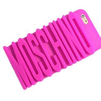 Moschino Inspired Phone Case ,Pink Phone Case, Worldwide Shipping