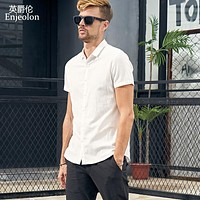 new summer short sleeve shirt men solid shirt cotton clothing male casual for men beach shirt clothes