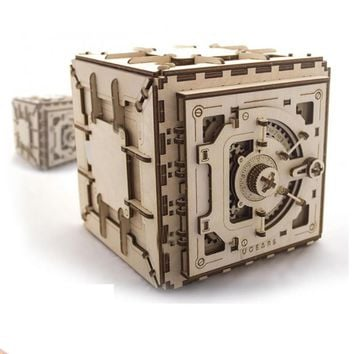 Wooden Toy Wood Mechanical Transmission Model Unlock Puzzle Key Classical Funny Toys Intellectual Educational for Children Adult