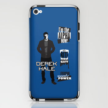 Derek Hale Quotes Teen Wolf iPhone & iPod Skin by Alice Wieckowska