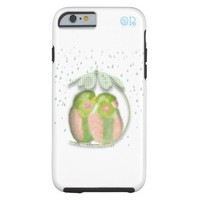 Lovebirds in the rain iphone6 case by OR Designs