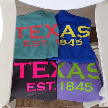 Texas spirit short sleeve t-shirt Texan pride lone star state or ANY state shirt