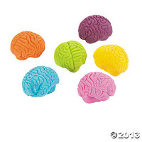 Brain-Shaped Erasers - Oriental Trading