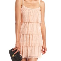 Tiered Lace Tank Dress: Charlotte Russe