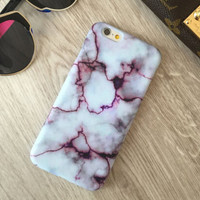 Unique Marble iPhone 7 se 5s 6 6s Plus Case Cover +gift box