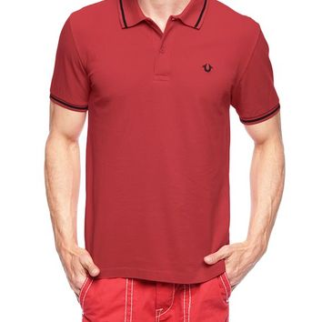 True Religion Hand Picked Mens Pique Polo - Red