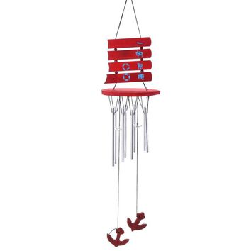 Alloy Wooden Hanging Wind Chimes Outdoor Garden Yard Windchimes Friendship Birthday Gifts Home Decoration Ornaments