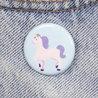 Pastel Unicorn 1.25 Inch Pin Back Button Badge