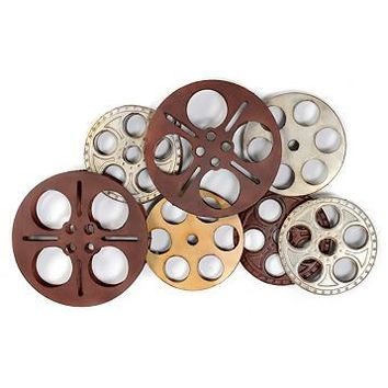 Silver & Red Movie Reels Wall Plaque | Kirkland's