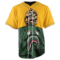 Bape Life Button Up Baseball Jersey