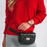Twist And Shout Sweater - Red