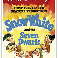 Walt Disney's Snow White and the Seven Dwarfs - First Full Length Feature Production - Vintage Film Movie Poster c.1937 - Master Art Print - 13in x 19in