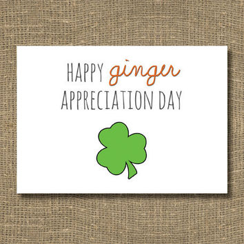 Happy Ginger Appreciation Day Greeting Card by RockCandieDesigns