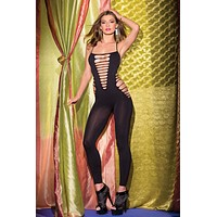Footless Bodystocking with Cut-Outs