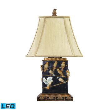 93-530-LED Birds On Branch LED Table Lamp in Black - Free Shipping!