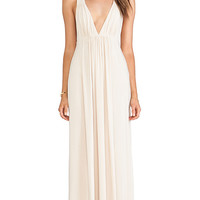 T-Bags LosAngeles Tie Back Maxi Dress in Beige