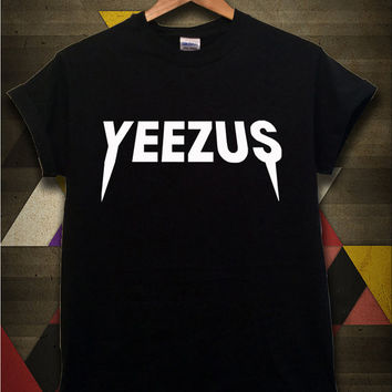 Yeezus Shirt Kanye West Yeezus Tour Tshirt Black and White Color Unisex Size - 052