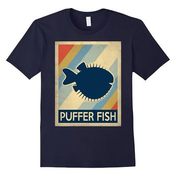 Vintage style puffer fish shirt