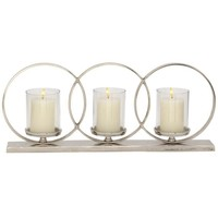 Charismatic Aluminum Glass Candle Holder