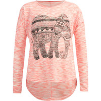Full Tilt Elephant Girls Hachi Tunic Coral  In Sizes