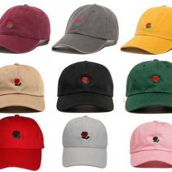 ESBON9X The Hundreds Rose Strap Cap Adjustable Golf Snapback Baseball Hat [2974244217]