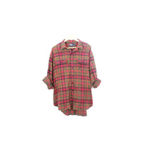 Lived-in Sun Washed Vintage Flannel Shirt |Plaid Grunge| Festival | Boho | XXL Green | Navy | Red | Buy 2 Get 1 Free