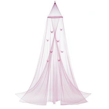 Bed Canopy Queen, Bed Canopy For Girls, Tulle Princess Pink Princess Canopy