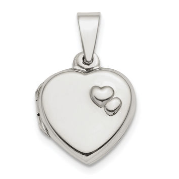 Sterling Silver Polished 13mm Heart Locket QLS776