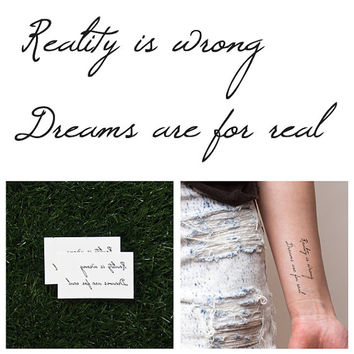 Denial - Temporary Tattoo (Set of 2)
