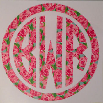 Lilly Pulitzer Decal perfect for laptop tablet car window notebook etc
