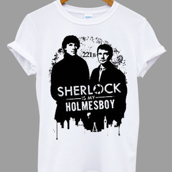 Sherlock holmes Popular Item on etsy for Funny Shirt, T shirt Mens and T shirt ladies size S, M, L, XL, XXL